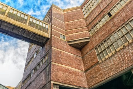 window, brick, wall, industry, sky, bridge, architecture, building