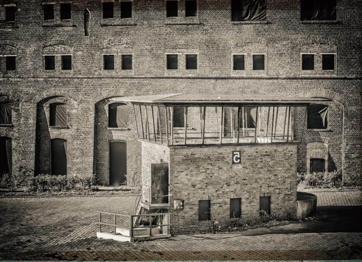 Monochrom, Fenster, Architektur, Gebäude, Ziegel