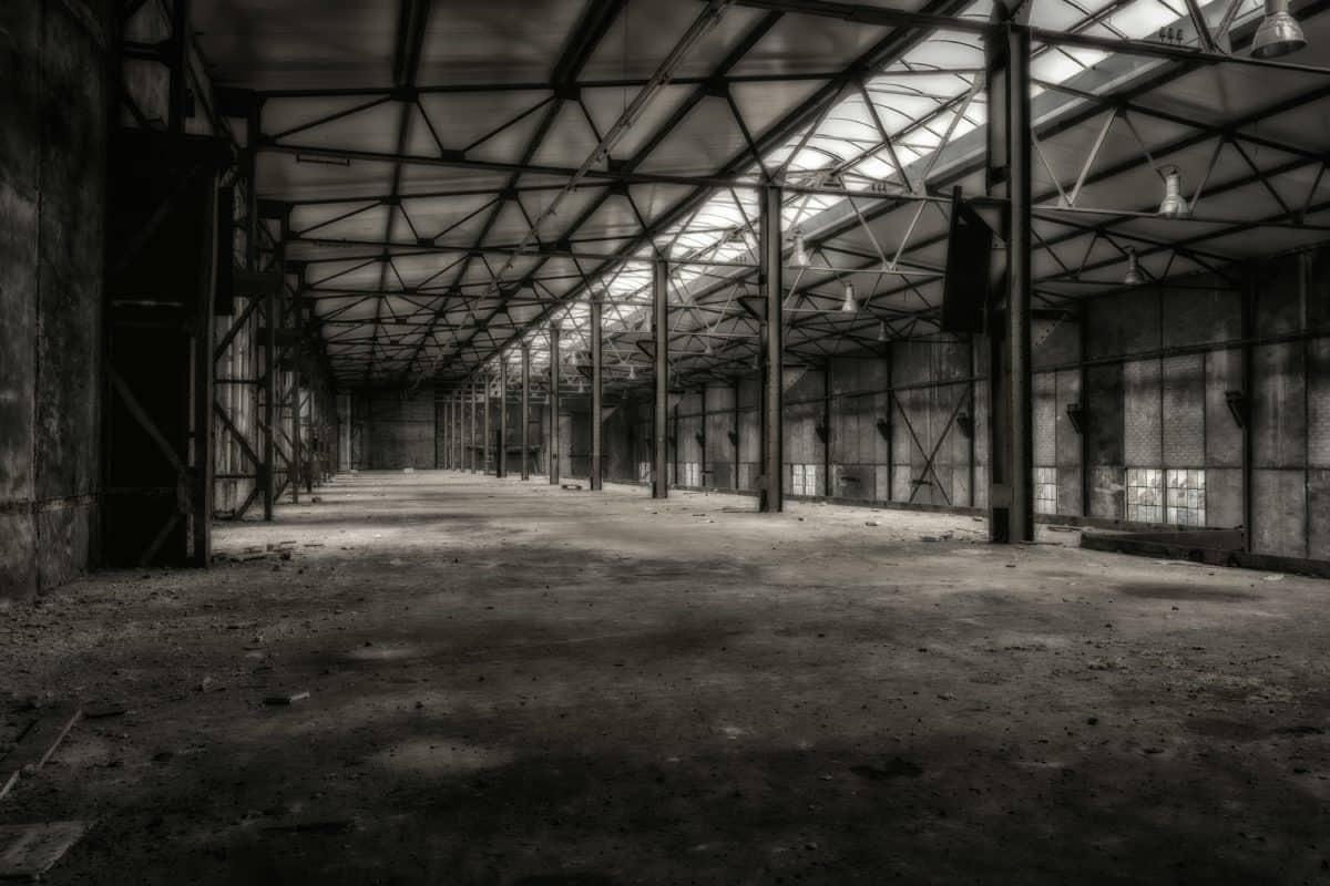 Gebäude, Architektur, Industrie, Metall, Monochrom, Bau