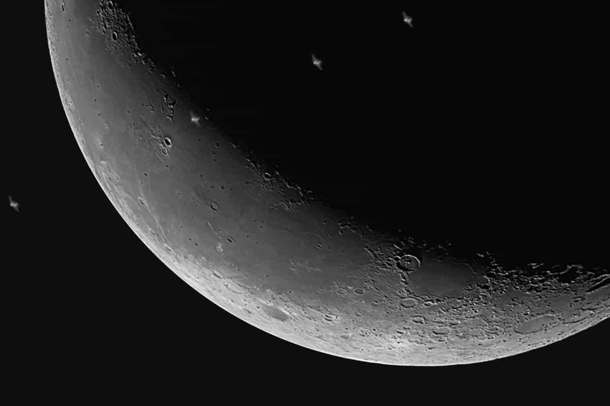 Astronomie, maan, donker, satelliet, eclipse, planeet, astronomie