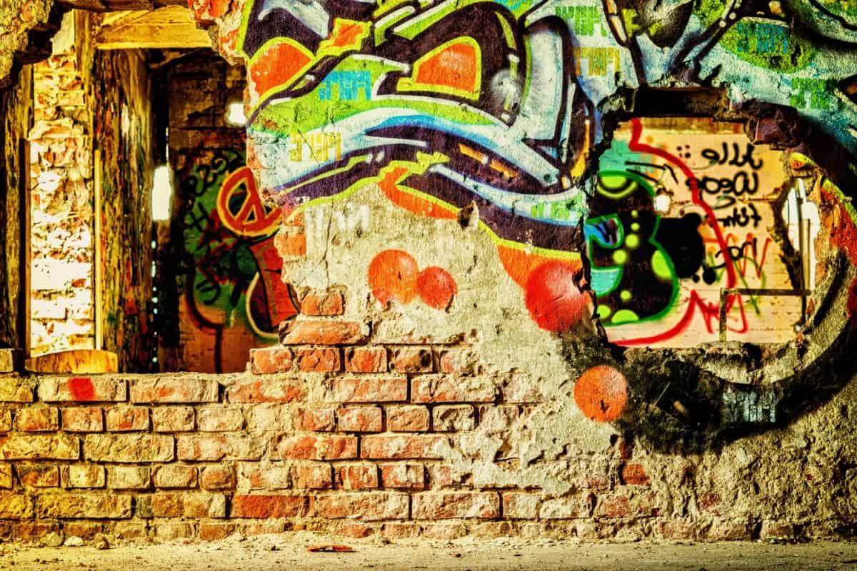 vandalizam, art, zid, grafit, mozaik
