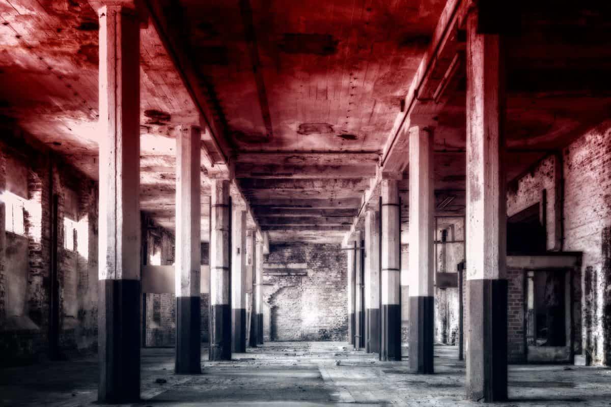 architettura, vecchio, magazzino, strada, fabbrica, urbano