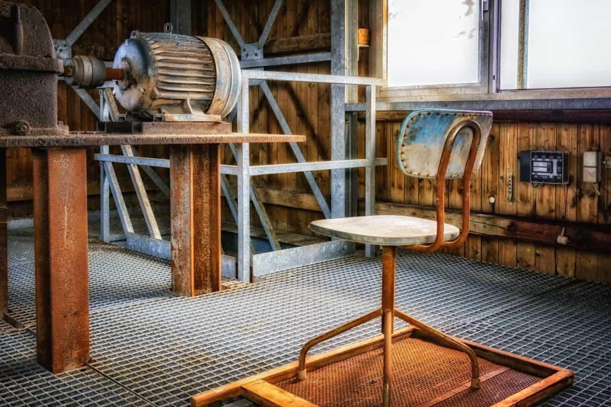 moteur électrique, technologie, usine, industrie, métal, acier, chaise, industrie