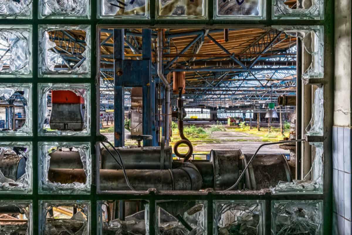 industria, metal, máquina, ventana, vidrio, acero de la construcción,