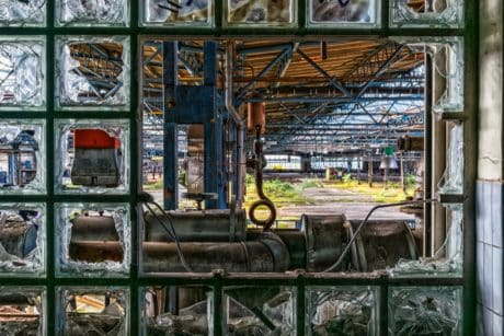 industry, metal, machine, window, glass, construction, steel