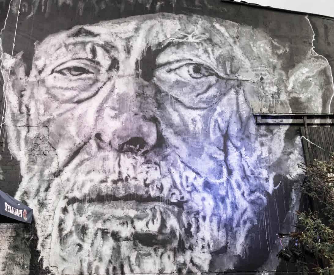Portrait, chef, art, yeux, nez, monochrome, homme