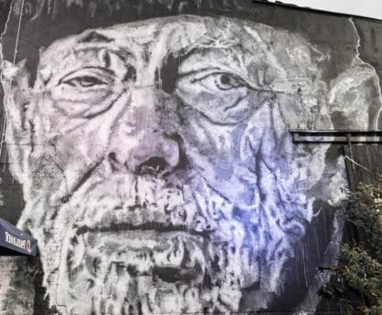 portré, fej, művészet, szemet, orrot, fekete-fehér, férfi