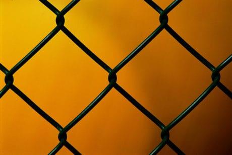 klec, plot, železo, kov, makro, detail, mřížky, drát, vzor