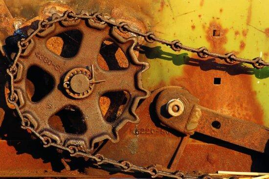 old, rust, machine, object, metal, iron, mechanism, metal gear, chain