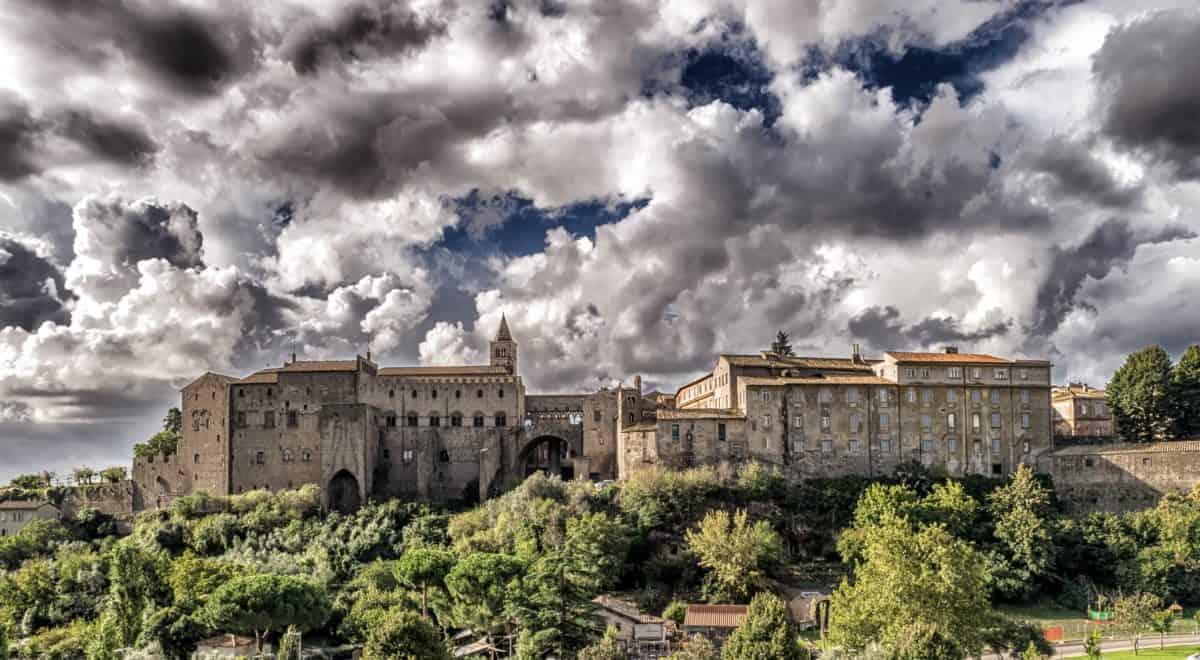 Château, ciel, architecture, vieux, ville, Palais, résidence