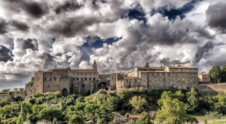 castle, sky, architecture, old, city, palace, residence