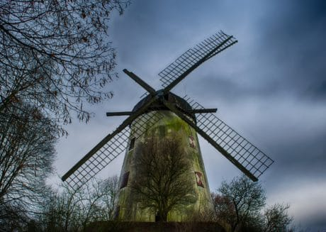 windmill, sky, environment, landscape, wind, evening, nature