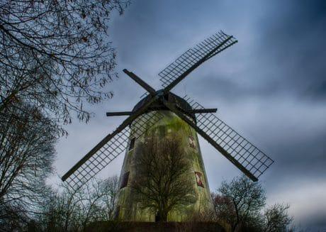вятърна мелница, небе, околната среда, ландшафта, вятър, вечер, природа
