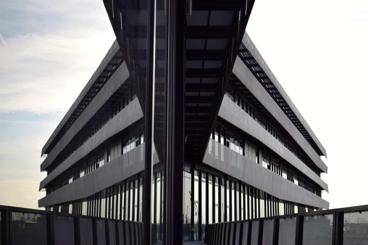 fenêtre, monochrome, ciel, moderne, architecture, ville, urbaine, construction