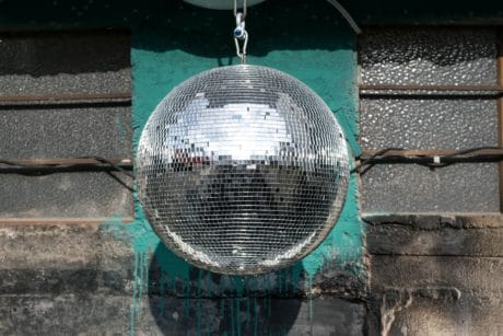 mirror, light, object, decoration, disco ball, reflection