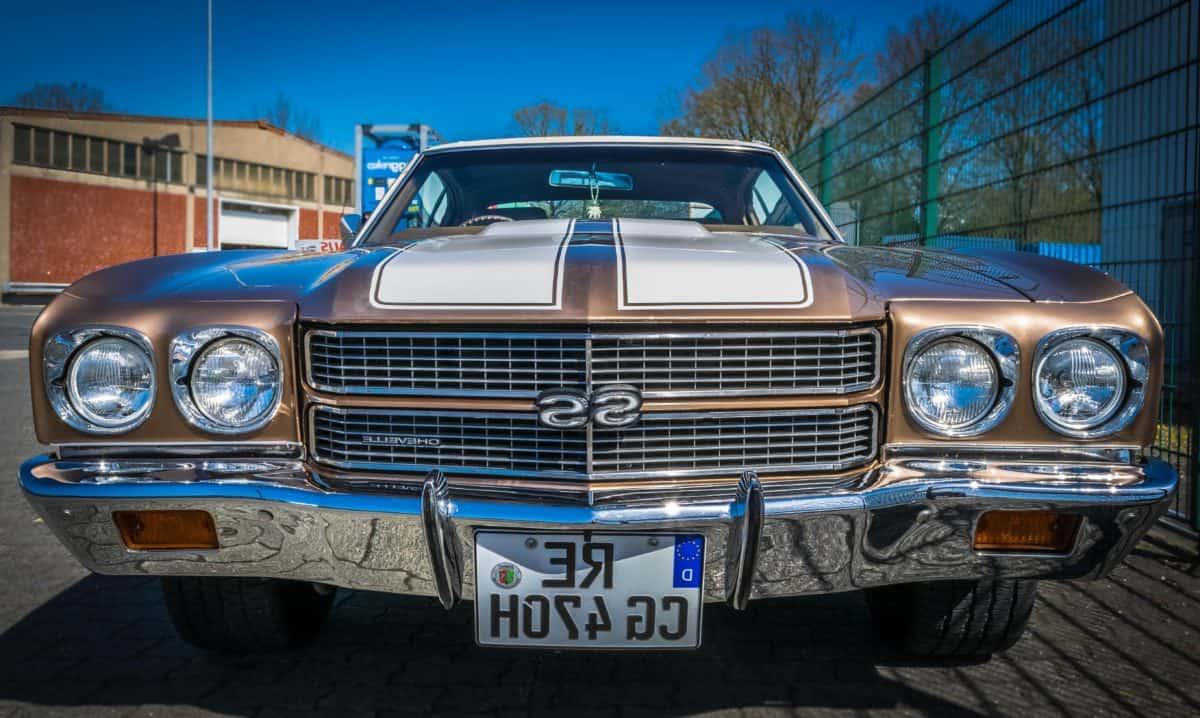 cromo, classico, auto, velocità, auto, veicolo, Faro, auto