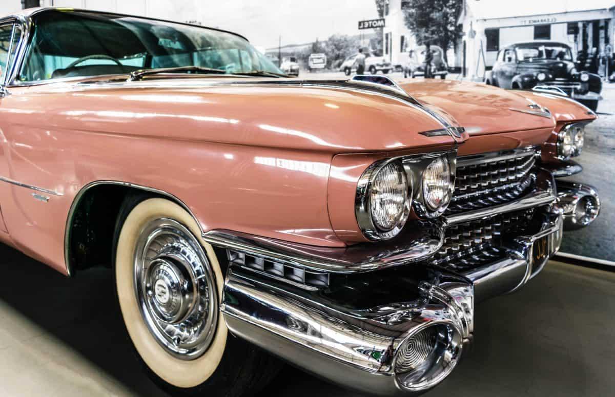 chrome, vehicle, automotive, classic, car, sedan, oldtimer, automobile