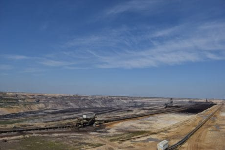 mine, coal, industry, workplace, blue sky, landscape