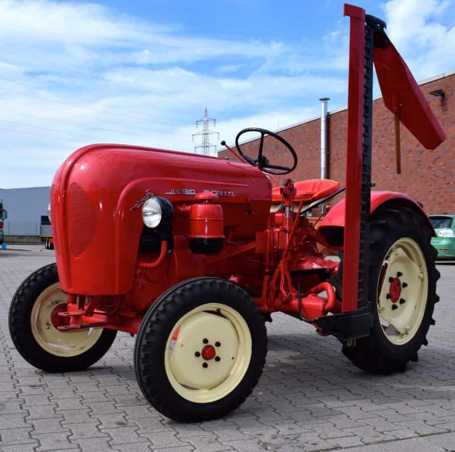 red tractor, machine, wheel, vehicle, machinery, agriculture