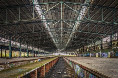 industry, construction, architecture, concrete, steel, hall