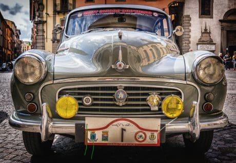 viejo, vehículo, coche clásico, coche, automóvil, sedán, oldtimer, transporte