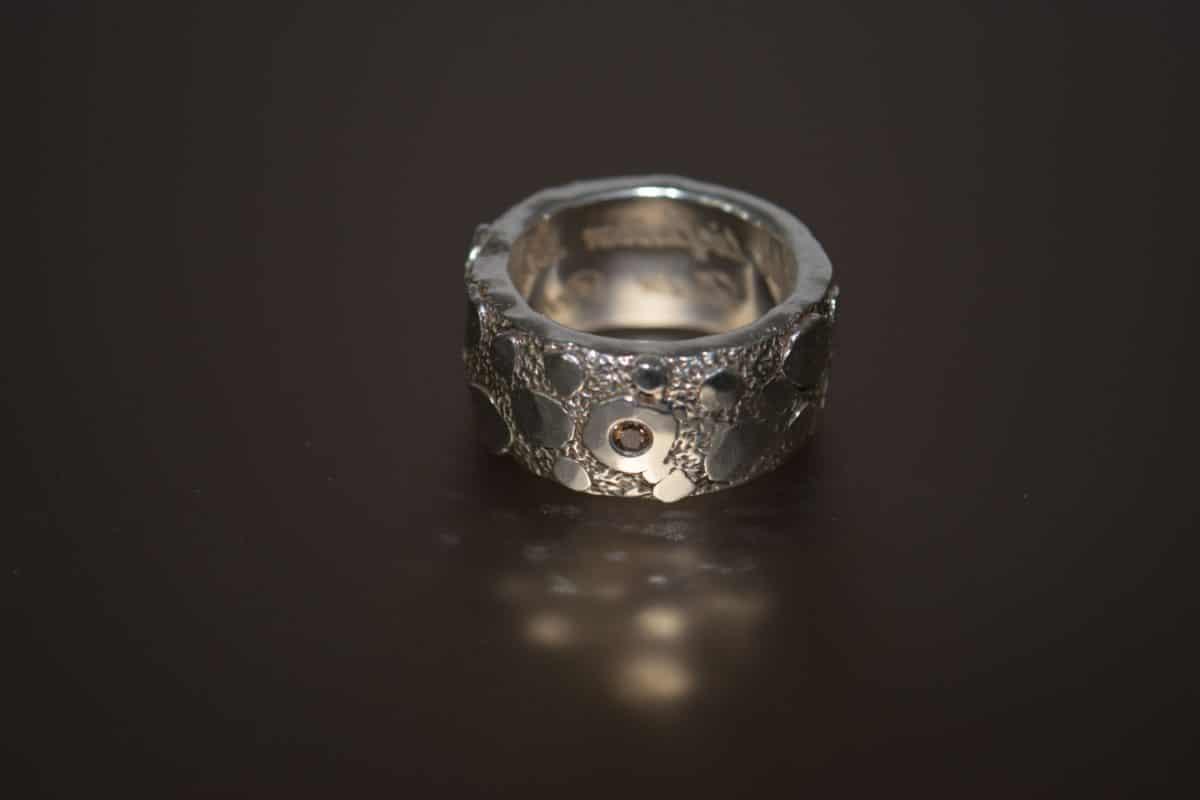 bijoux, argent, bague, métal, Pierre, réflexion, objet, macro