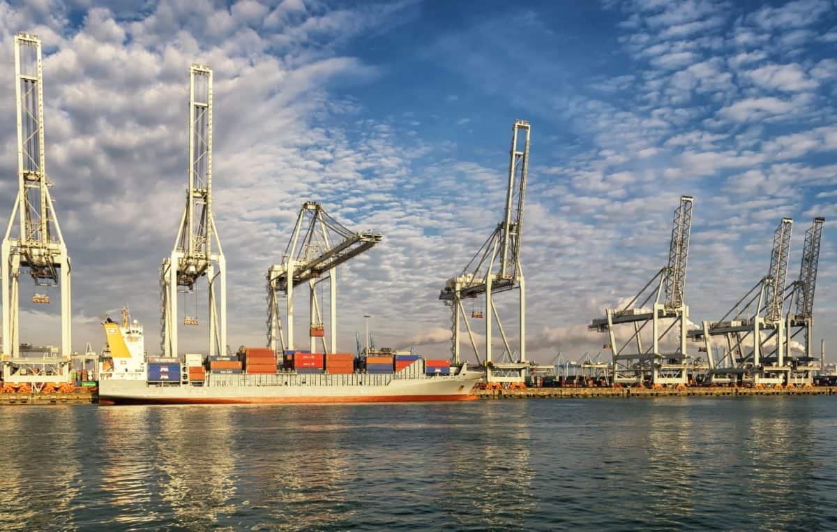 priemysel, lode, pier, prístav, skúter, mora, vody, port