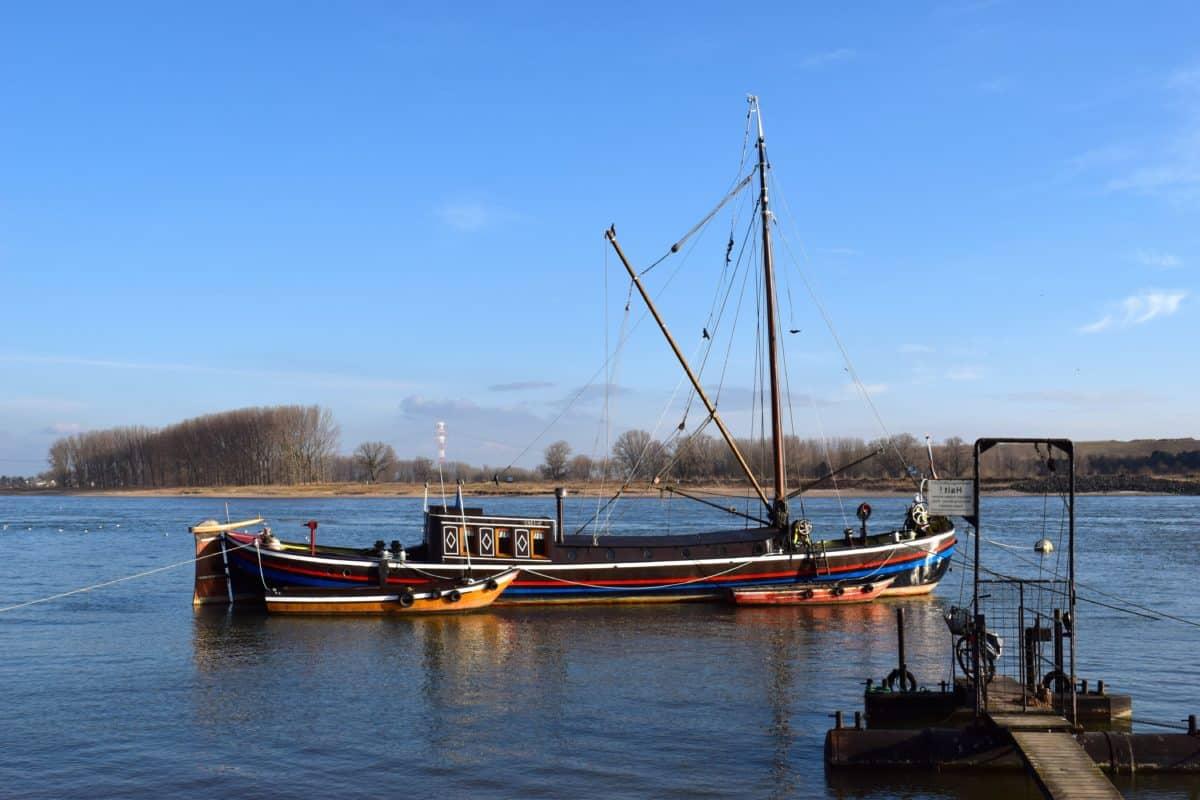 veículo, água, barco, embarcações, barco, marina, céu azul