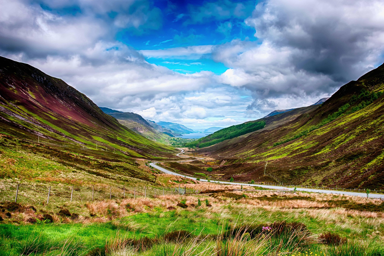 Imagen gratis: paisaje, naturaleza, cielo azul, montaña ...