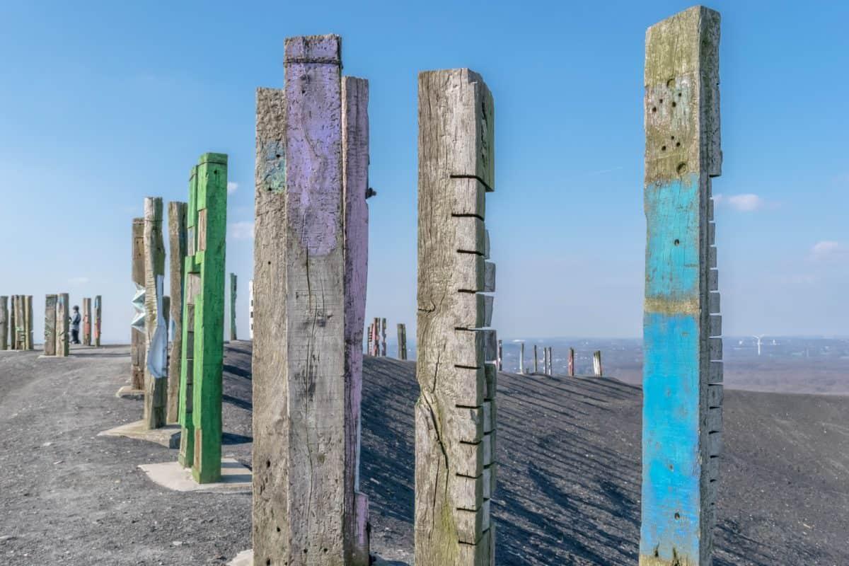 pilier, arbre, ciel, paysage, architecture, art