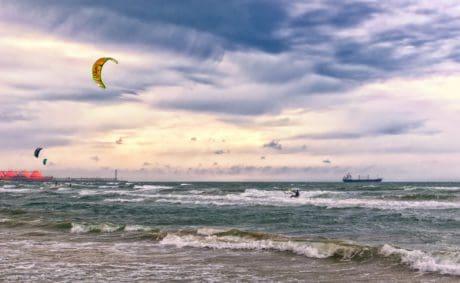 mare, cielo, acqua, mare, oceano, spiaggia, nube, estate