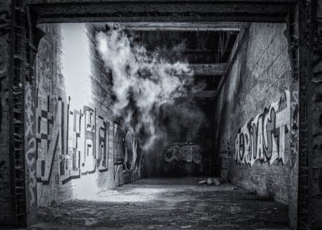 art, wall, graphite, smoke, monochrome, light