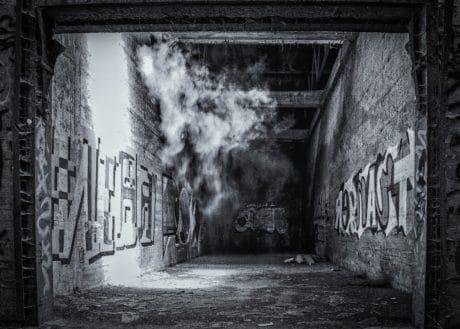 Kunst, Wand, Graphit, Rauch, Monochrom, Licht