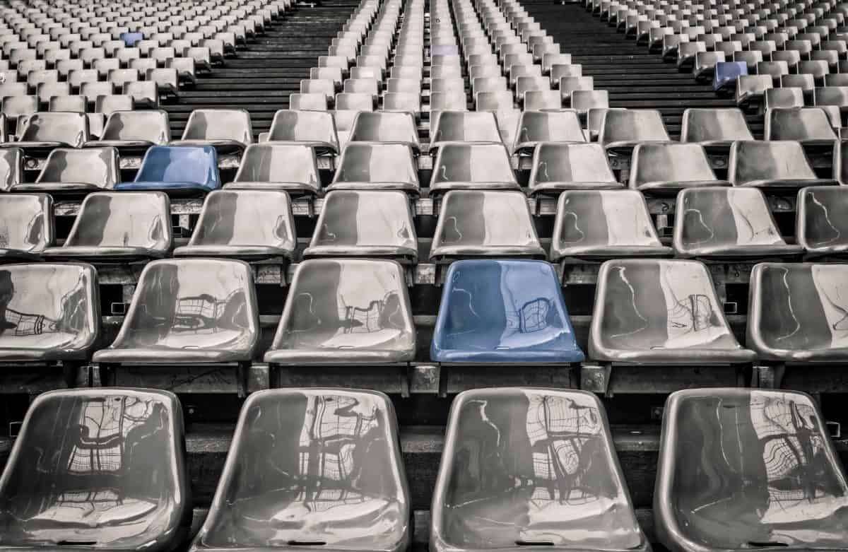meubles, Chaire, tribune, stade de football, public