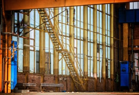 window, architecture, structure, staircase, metal, construction, workplace