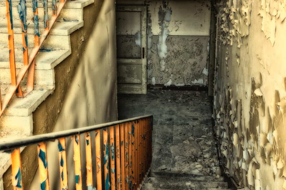Zaun, Treppen, alte, Architektur, Haus, Wand