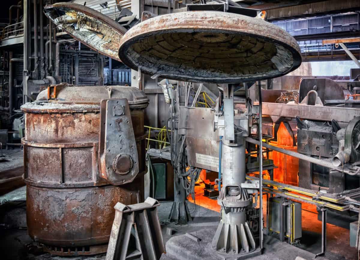 fábrica, metalurgia, trabajo, industria, metal, tapa, acero, industria, moho, fundición