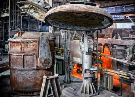 usine, métallurgie, travail, industrie, métal, couvercle, acier, industrie, rouille, fusion