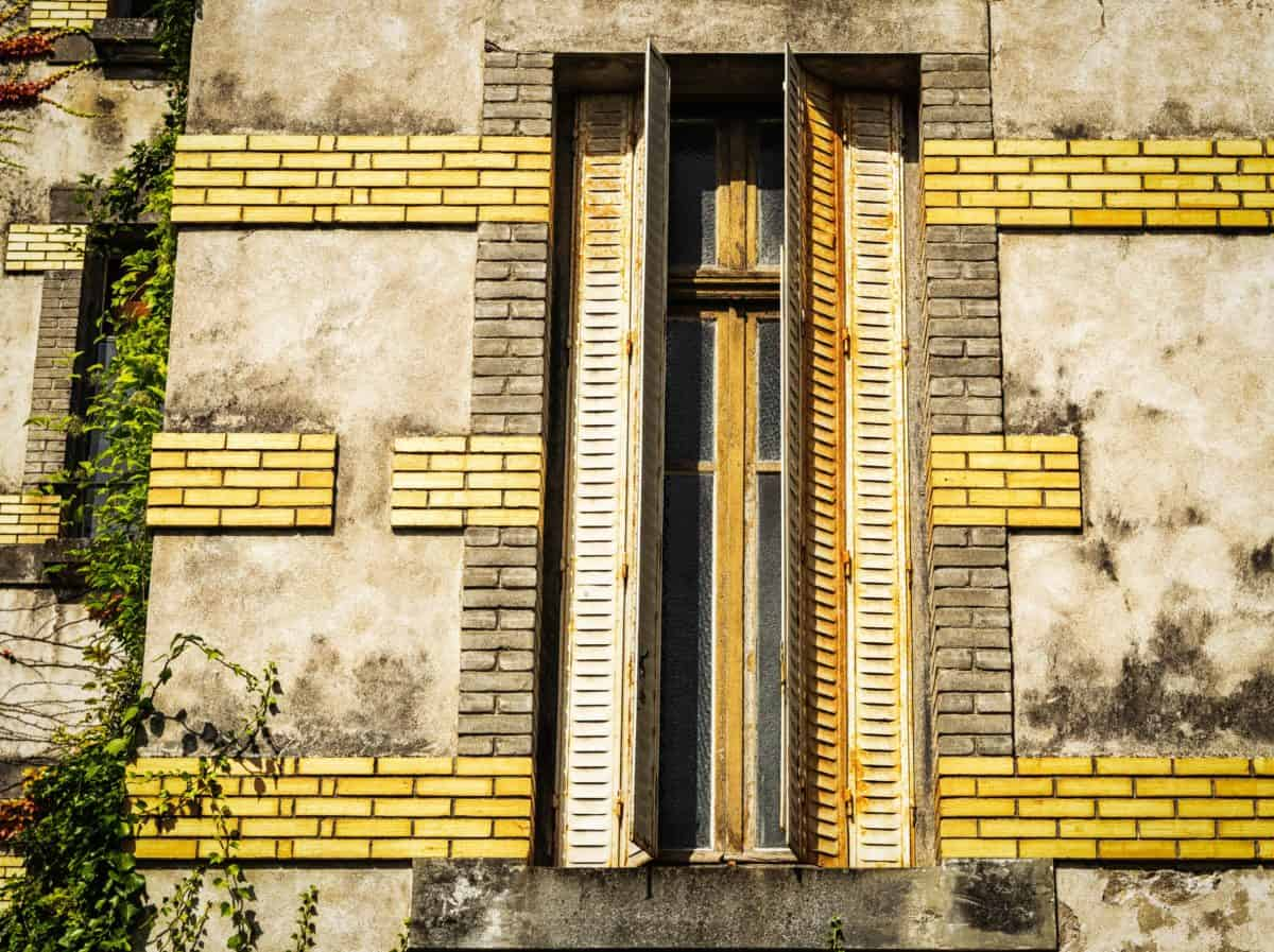 architecture, old, window, brick wall, facade, building