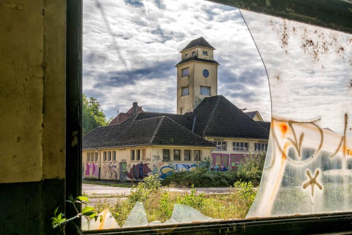 vetro, finestra, Torre, cielo, costruzione, strada