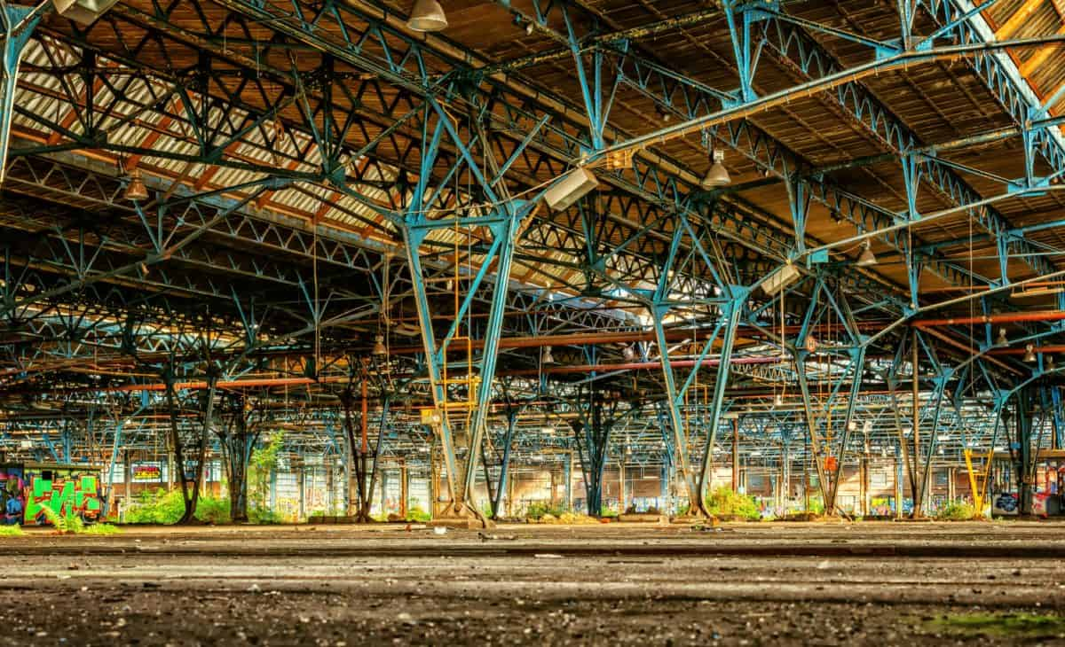 Industrie, Bau, Werk, Architektur, Struktur, Eisen