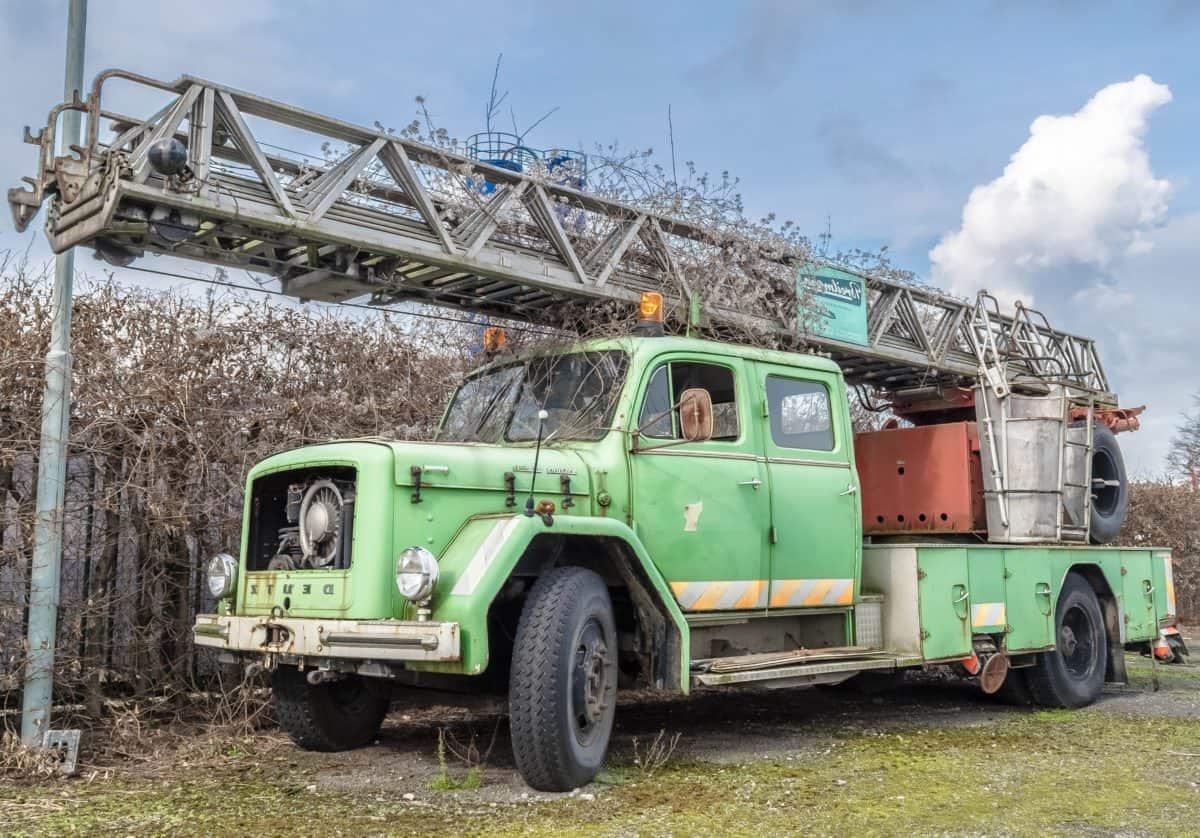 vehículo, máquina, camión, transporte, al aire libre