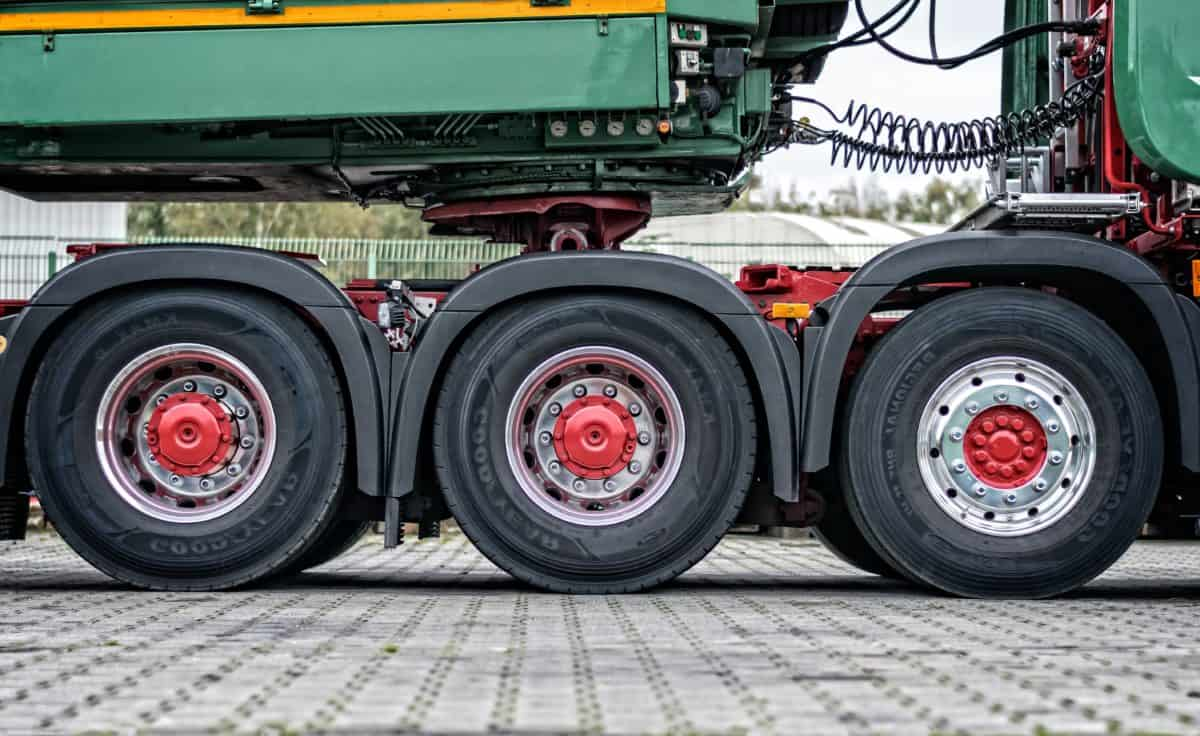 wheel, outdoor, truck, tire, outdoor, pavement, vehicle