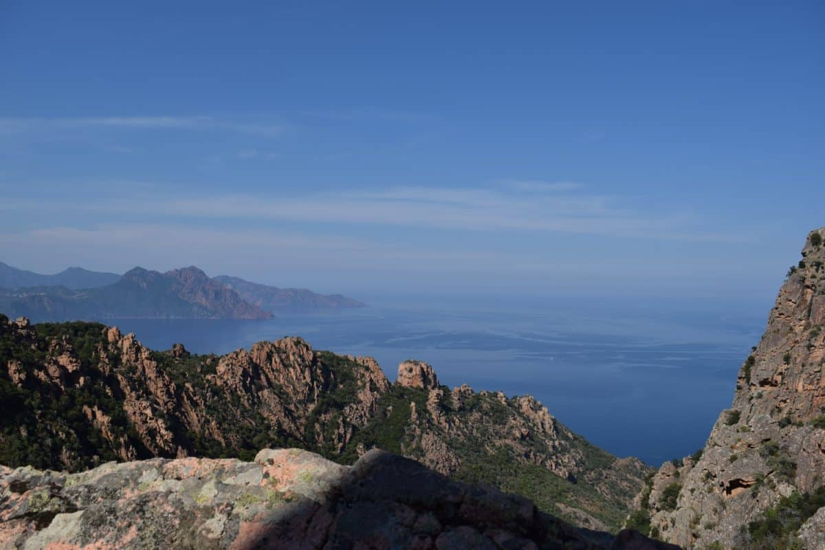 пейзаж, планина, небе, природа, море, нос, бряг, океан