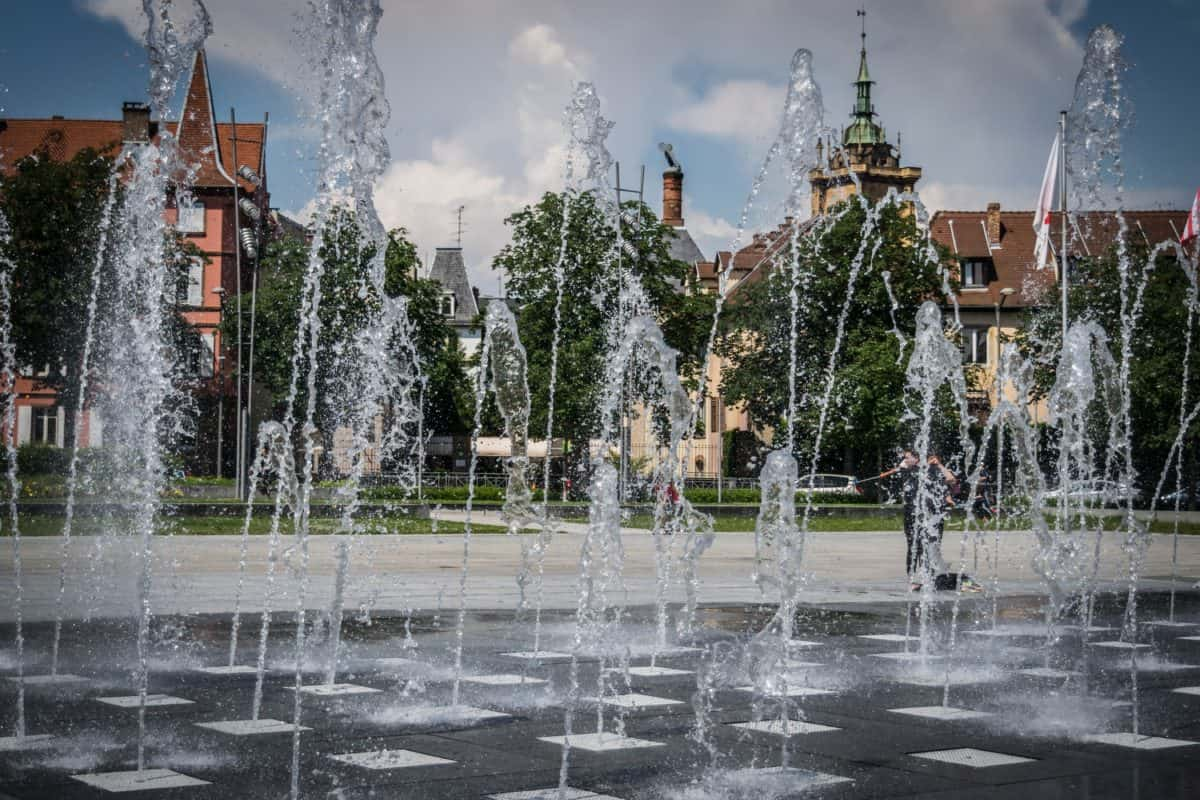 city, water, structure, fountain, outdoor