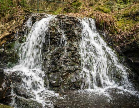 paesaggio, cascata, acqua, fiume, bagnato, legno, natura