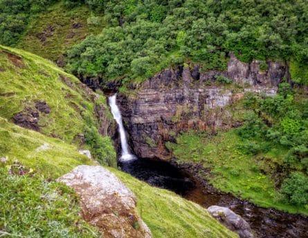 paysage, nature, montagne, eau, rivière, chute d'eau