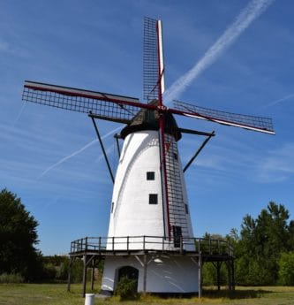 blue sky, wind, countryside, rotation, energy, windmill, facade
