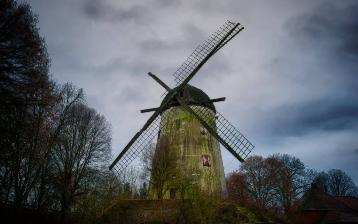 sky, environment, windmill, wind, landscape, architecture