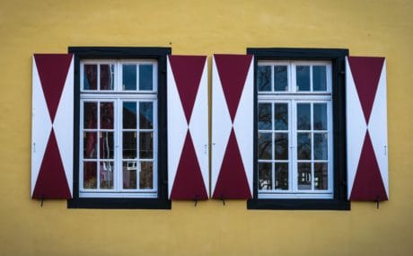 window, wall, glass, house, architecture, facade